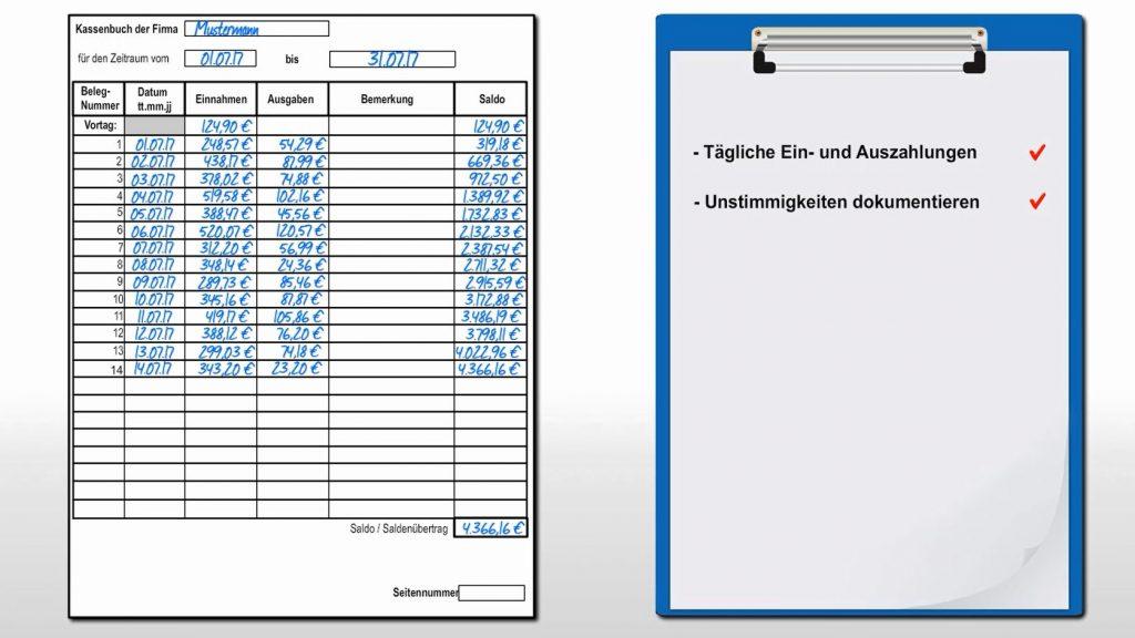 Taxvideo Kassenbuch Steuerfallen